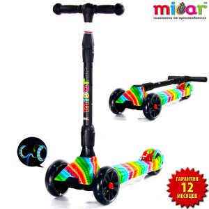 Самокат Scooter Maxi MICAR Ultra Rainbow